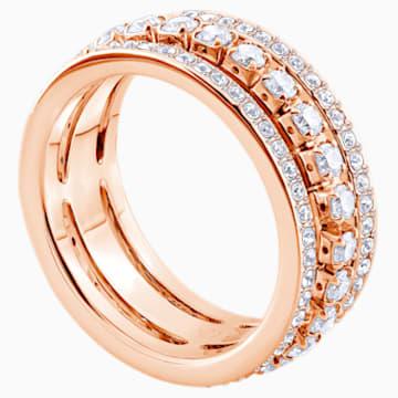 Further Ring, weiss, Rosé vergoldet - Swarovski, 5441200