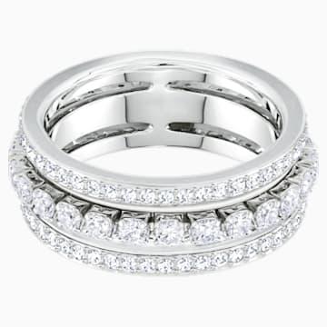 Further 戒指, 白色, 鍍白金色 - Swarovski, 5441203