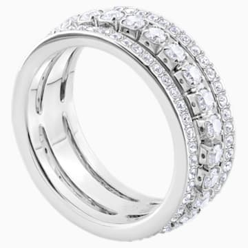 Further Ring, weiss, Rhodiniert - Swarovski, 5441203