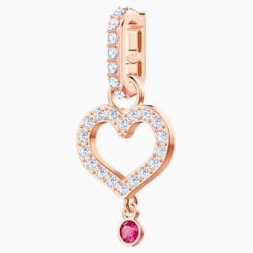 Swarovski Remix Collection Heart Charm, Белый Кристалл, Покрытие оттенка розового золота - Swarovski, 5441398
