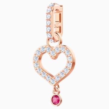 Swarovski Remix Collection Heart Charm, 白色, 鍍玫瑰金色調 - Swarovski, 5441398
