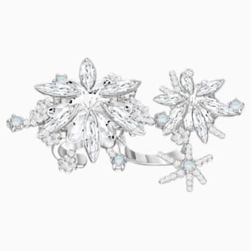 Merry Cocktail Ring, White, Rhodium plated - Swarovski, 5442415