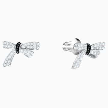 Mademoiselle Pierced Earrings, Long, Multi-colored, Rhodium plated - Swarovski, 5442772