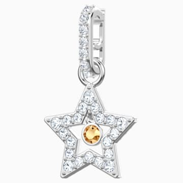 Swarovski Remix Collection Star Charm, blanco, Baño de Rodio - Swarovski, 5443939