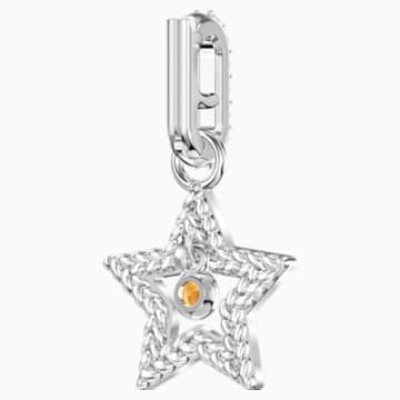 Swarovski Remix Collection Star Charm, weiss, Rhodiniert - Swarovski, 5443939