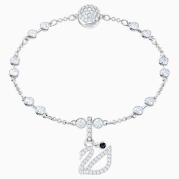 Swarovski Remix Collection Swan Charm, 白色, 镀铑 - Swarovski, 5443940