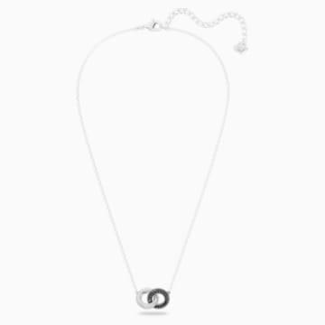 Stone Necklace, Multi-coloured, Rhodium plated - Swarovski, 5445706