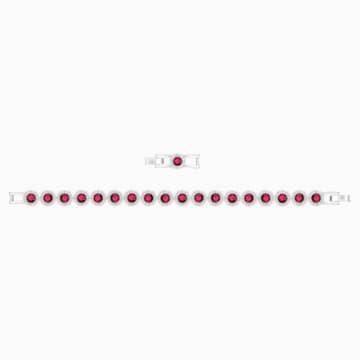 Pulsera Angelic, rojo, Baño de Rodio - Swarovski, 5446006
