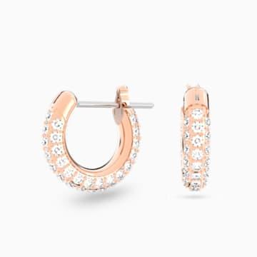 Stone 穿孔耳環, 粉紅色, 鍍玫瑰金色調 - Swarovski, 5446008
