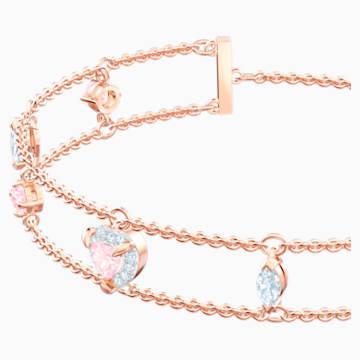 One Bracelet, Multi-colored, Rose-gold tone plated - Swarovski, 5446304