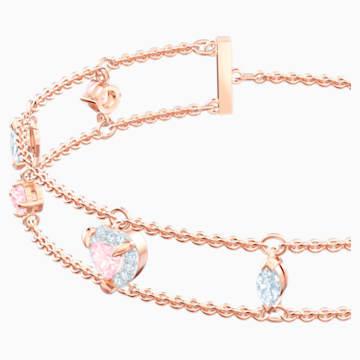 One Bracelet, Multi-coloured, Rose-gold tone plated - Swarovski, 5446304