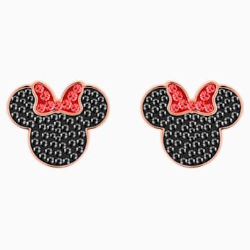 Micky & Minnie Ohrringe, schwarz, Rosé vergoldet - Swarovski, 5446390