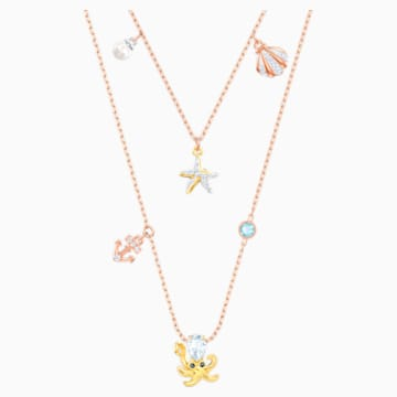Ocean Necklace, Multi-coloured, Mixed plating - Swarovski, 5446664