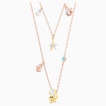 Collier Ocean, multicolore, combinaison de métaux plaqués - Swarovski, 5446664