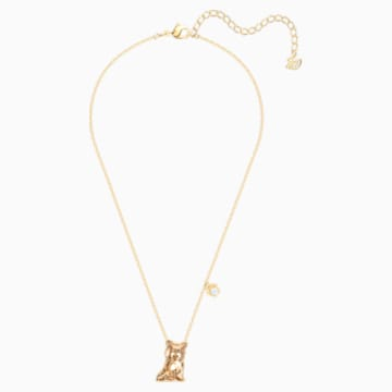 Pets Yorkshire Necklace, Golden, Gold-tone plated - Swarovski, 5446987
