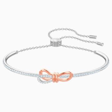 Brazalete Lifelong Bow, blanco, Combinación de acabados metálicos - Swarovski, 5447079