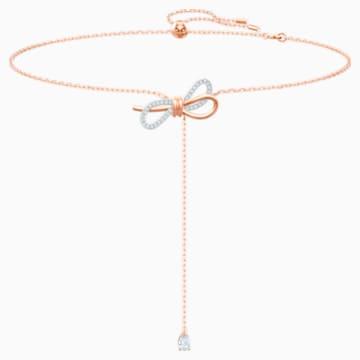 Lifelong Bow-Y-vormige ketting, Wit, Gemengde metaalafwerking - Swarovski, 5447082