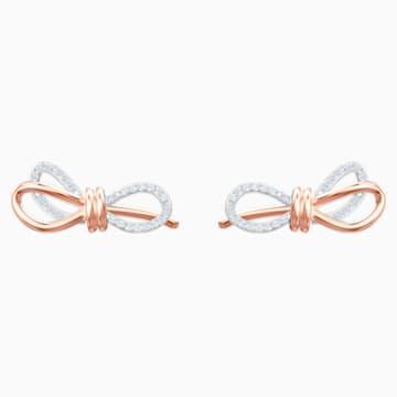 Lifelong Bow Ohrringe, weiss, Metallmix - Swarovski, 5447089