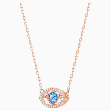 Luckily Necklace, Multi-coloured, Rose-gold tone plated - Swarovski, 5448611