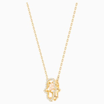 Luckily Necklace, Multi-coloured, Gold-tone plated - Swarovski, 5448612