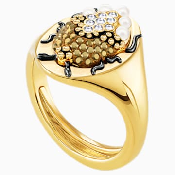 Magnetic Signet Ring, Multi-coloured, Mixed metal finish - Swarovski, 5448773
