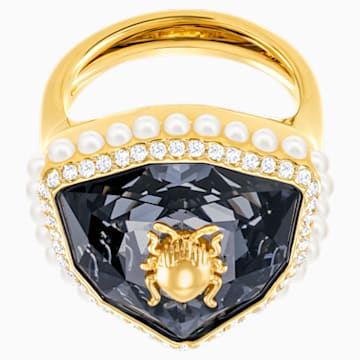 Magnetic 鸡尾酒戒指, 彩色设计, 镀金色调 - Swarovski, 5448774