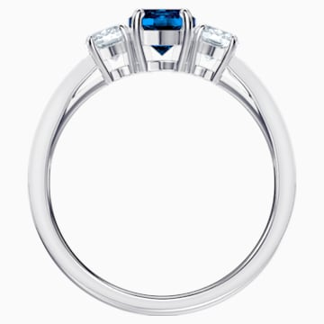Attract Trilogy Round Ring, blau, Rhodiniert - Swarovski, 5448831