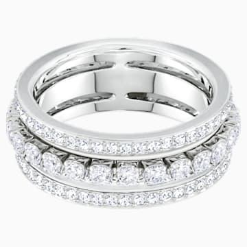 Further Ring, White, Rhodium plated - Swarovski, 5448840