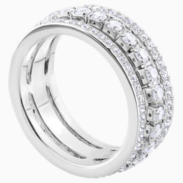 Further 戒指, 白色, 鍍白金色 - Swarovski, 5448840