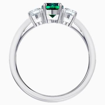 Attract Trilogy Round-ring, Groen, Rodium-verguld - Swarovski, 5448845