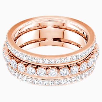 Further 戒指, 白色, 鍍玫瑰金色調 - Swarovski, 5448847