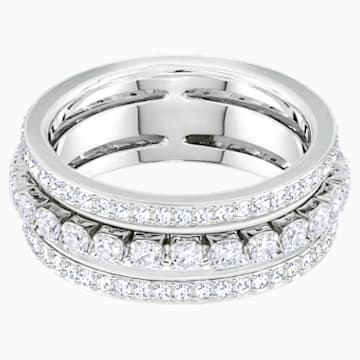 Further 戒指, 白色, 鍍白金色 - Swarovski, 5448892