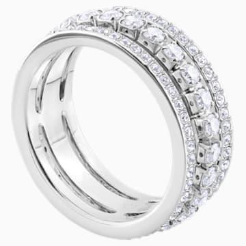Further Ring, White, Rhodium plated - Swarovski, 5448892