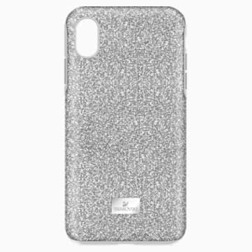 Husă cu protecție pentru smartphone High, iPhone® XS Max, nuanță argintie - Swarovski, 5449135