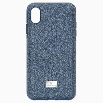 High okostelefon tok beépített ütéselnyelővel, iPhone® XS Max, kék - Swarovski, 5449136