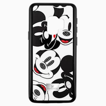 Mickey Face Smartphone Case with integrated Bumper, Galaxy S®9, Black - Swarovski, 5449144