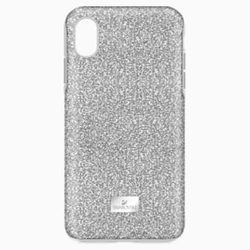 High Smartphone Case with Bumper, iPhone® XR, Silver tone - Swarovski, 5449147