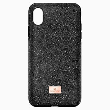 Pouzdro na chytrý telefon High s ochranným okrajem, iPhone® XS Max, černé - Swarovski, 5449152