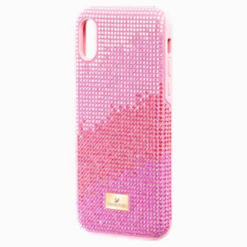 Custodia per smartphone con bordi protettivi High Love, iPhone® X/XS, rosa - Swarovski, 5449510