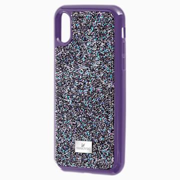 Coque rigide pour smartphone avec cadre amortisseur Glam Rock, iPhone® X/XS, violet - Swarovski, 5449517