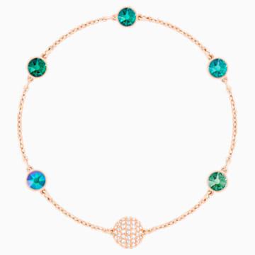 Swarovski Remix Collection Green Strand, Multi-colored, Rose-gold tone plated - Swarovski, 5451093