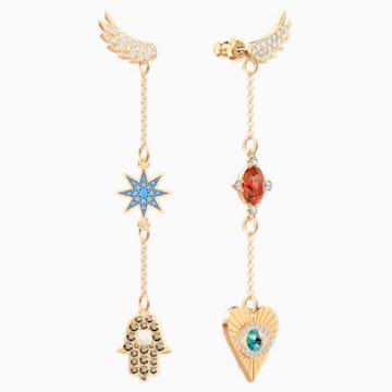 Lucky Goddess Ohrringe, mehrfarbig, Vergoldet - Swarovski, 5451268