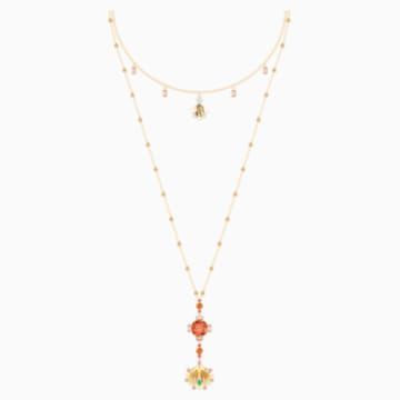 Lucky Goddess Necklace, Multi-colored, Gold-tone plated - Swarovski, 5451303