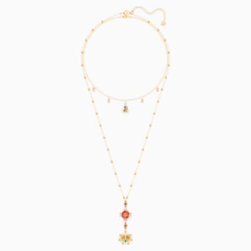 Lucky Goddess Necklace, Multi-coloured, Gold-tone plated - Swarovski, 5451303