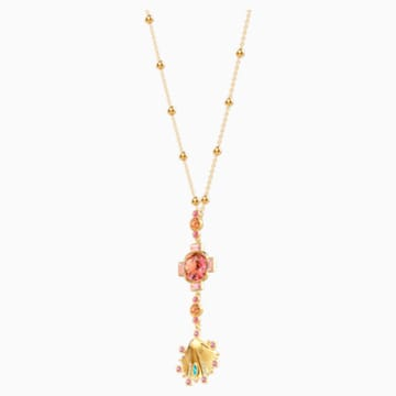 Lucky Goddess 项链, 彩色设计, 镀金色调 - Swarovski, 5451303