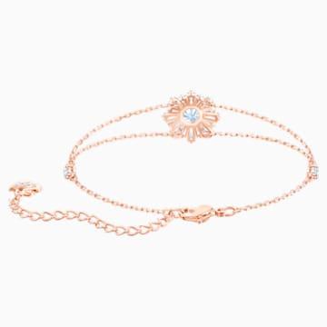 Braccialetto Sunshine, bianco, Placcato oro rosa - Swarovski, 5451357