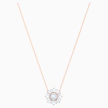 Pendentif Sunshine, blanc, Métal doré rose - Swarovski, 5451376