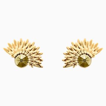 Nemesia 穿孔耳环花托, 彩色设计, 镀金色调 - Swarovski, 5451400