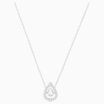 Swarovski Sparkling Dance Pear Necklace, White, Rhodium plated - Swarovski, 5451992