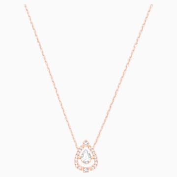 Swarovski Sparkling Dance Pear Halskette, weiss, Rosé vergoldet - Swarovski, 5451993
